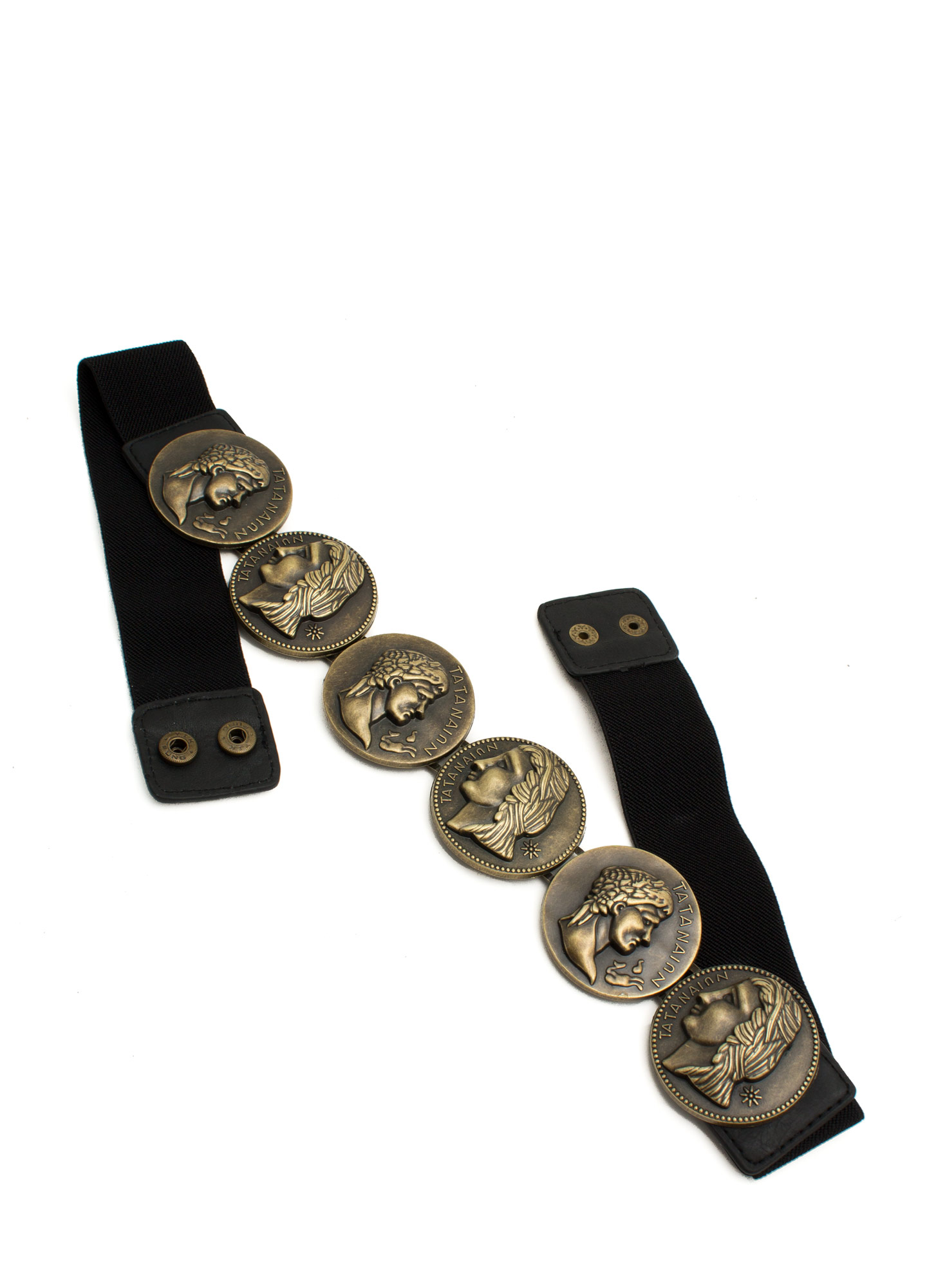 Coin Profile Belt DKGOLDBLACK