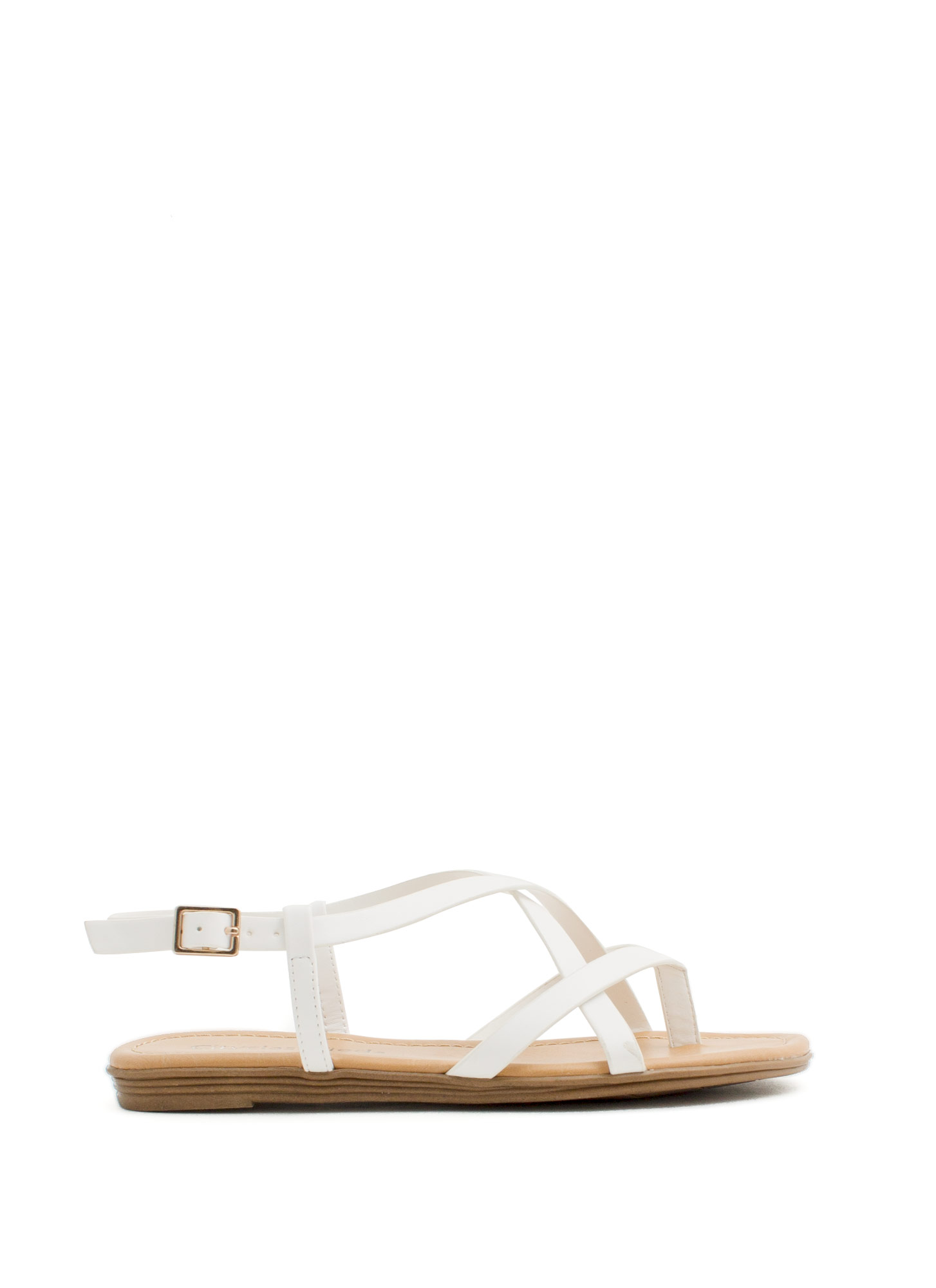 Summertime Radness Strappy Sandals OFFWHITE