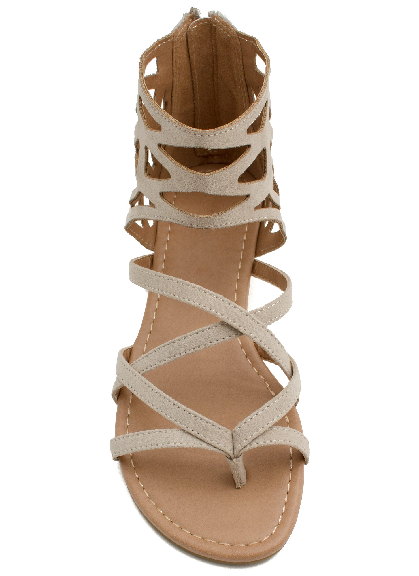 Too Haute Faux Leather Cut-Out Sandals LTSTONE