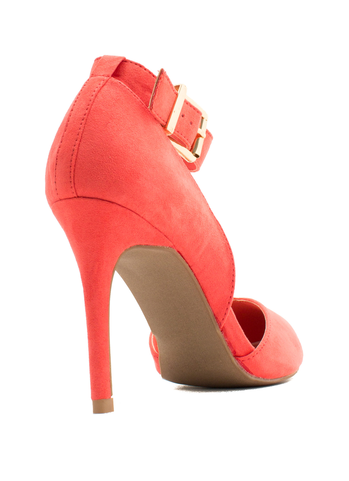 Fancy-Free Faux Suede Heels DKCORAL