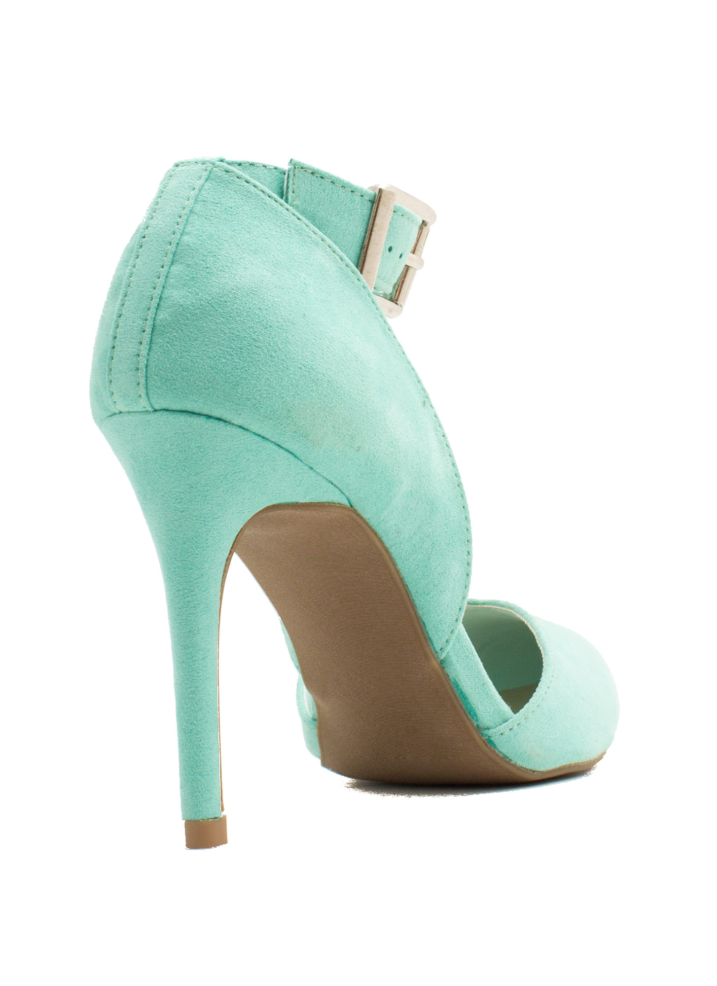 Fancy-Free Faux Suede Heels MINT