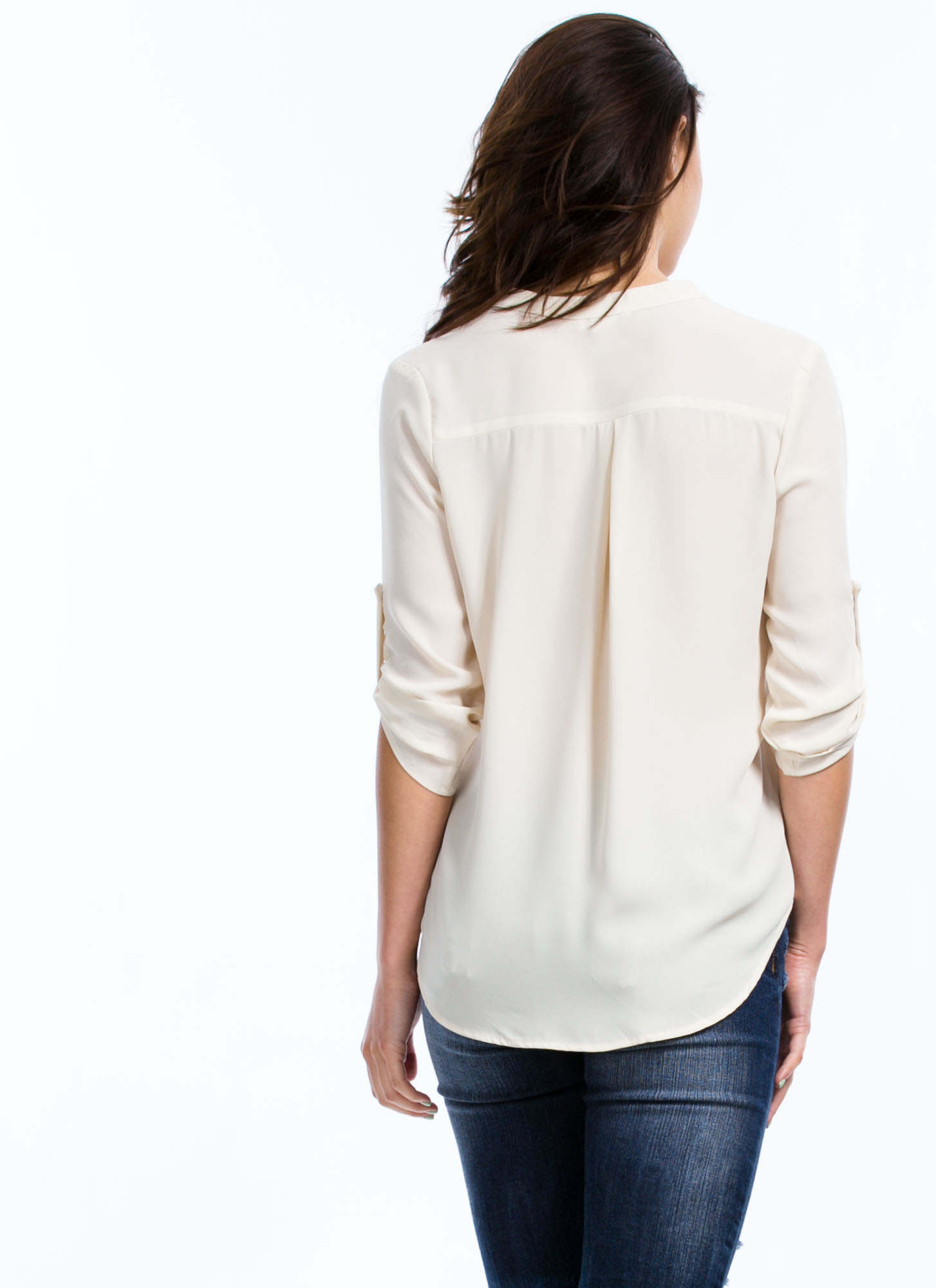 Let's Roll Up Blouse CREAM
