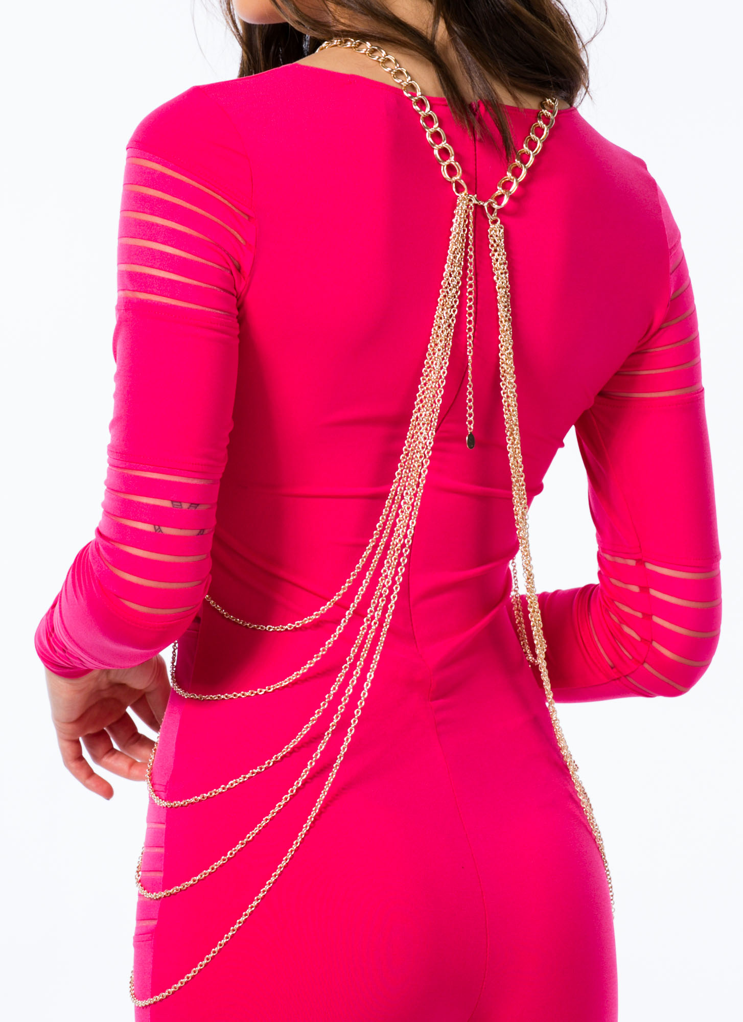 Double Link Draped Body Chain GOLD