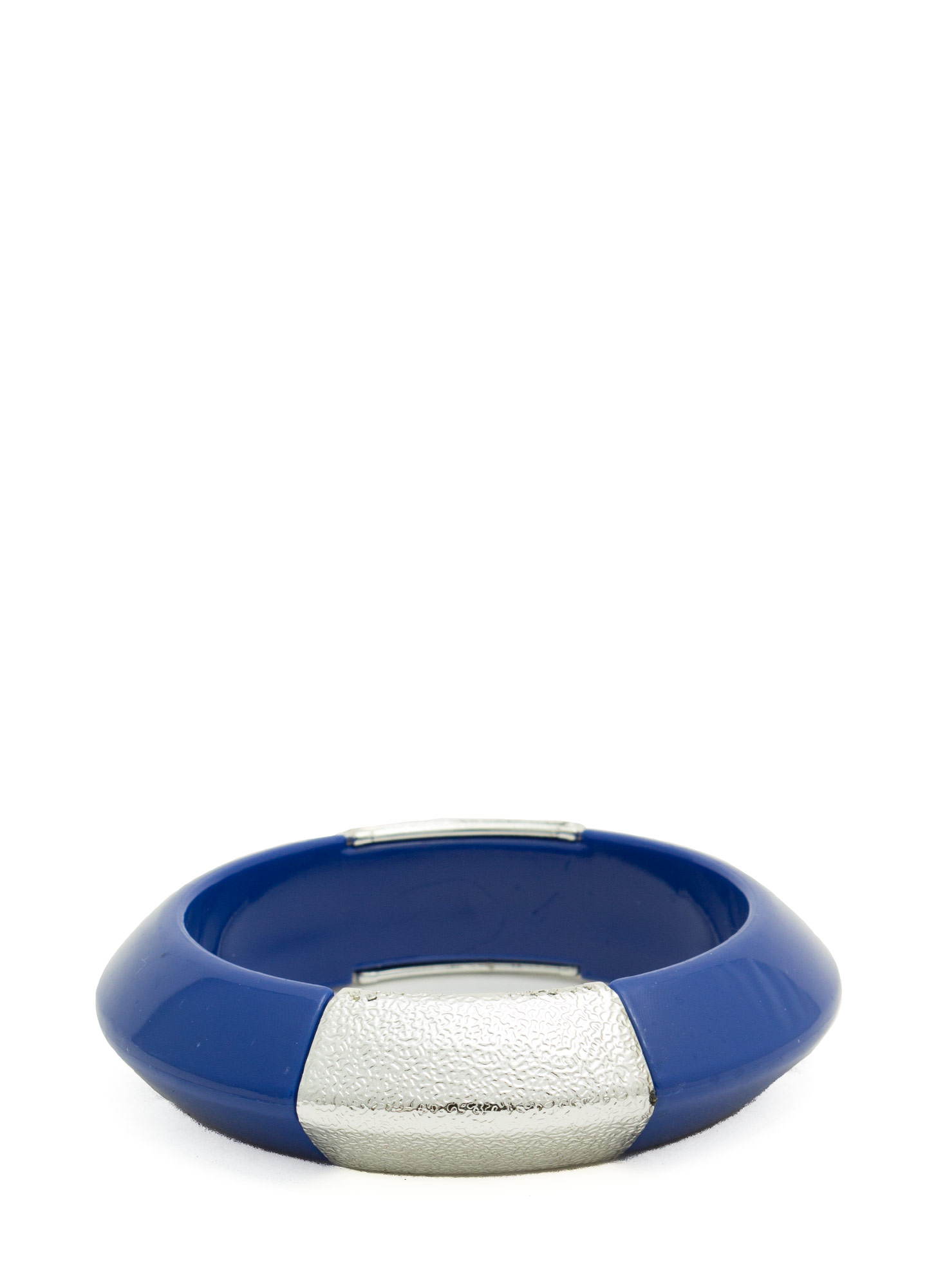 Metallic Accent Chunky Resin Bangle BLUE