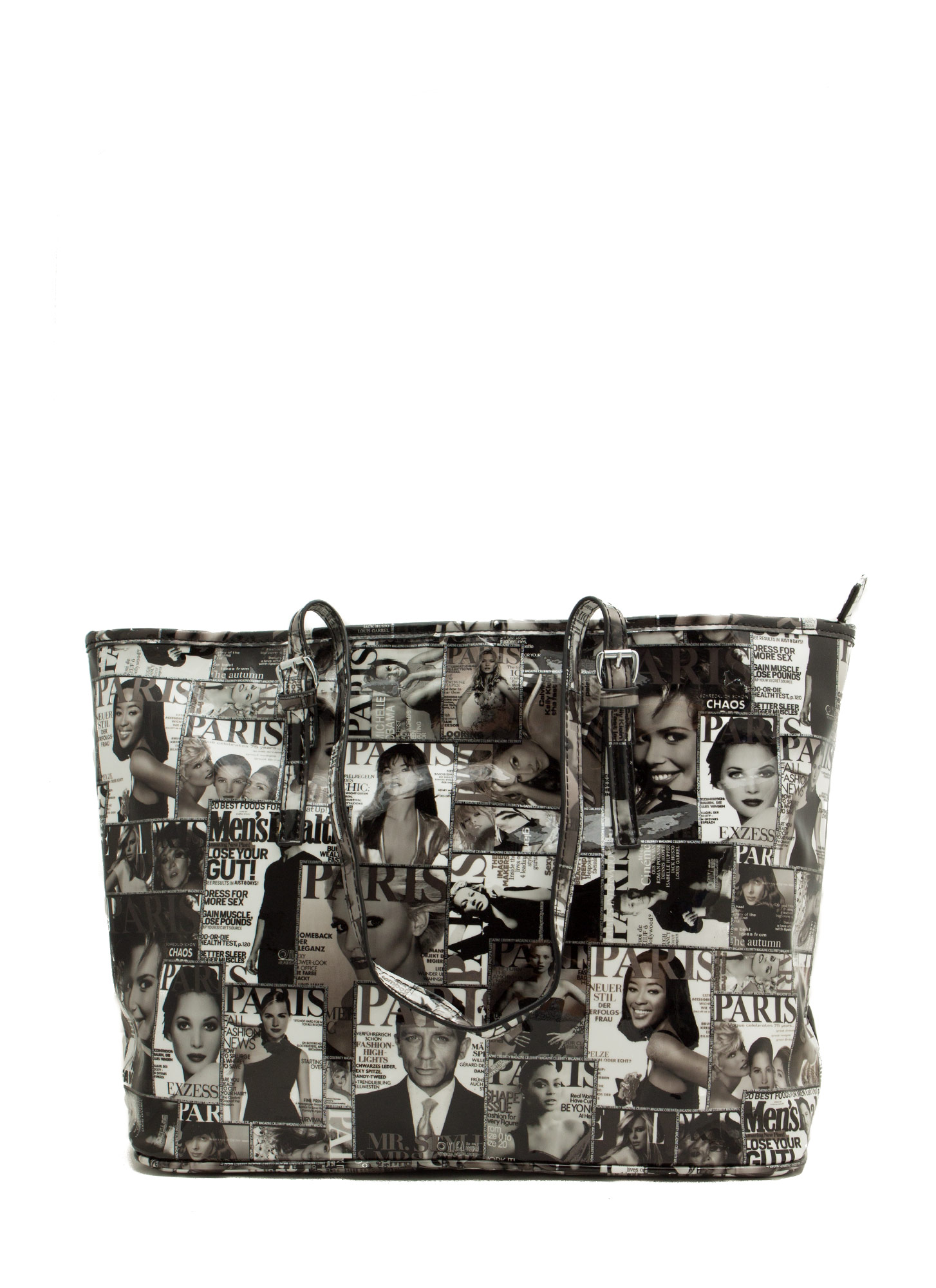 Cover Page Magazine Tote Bag BLACKWHITE