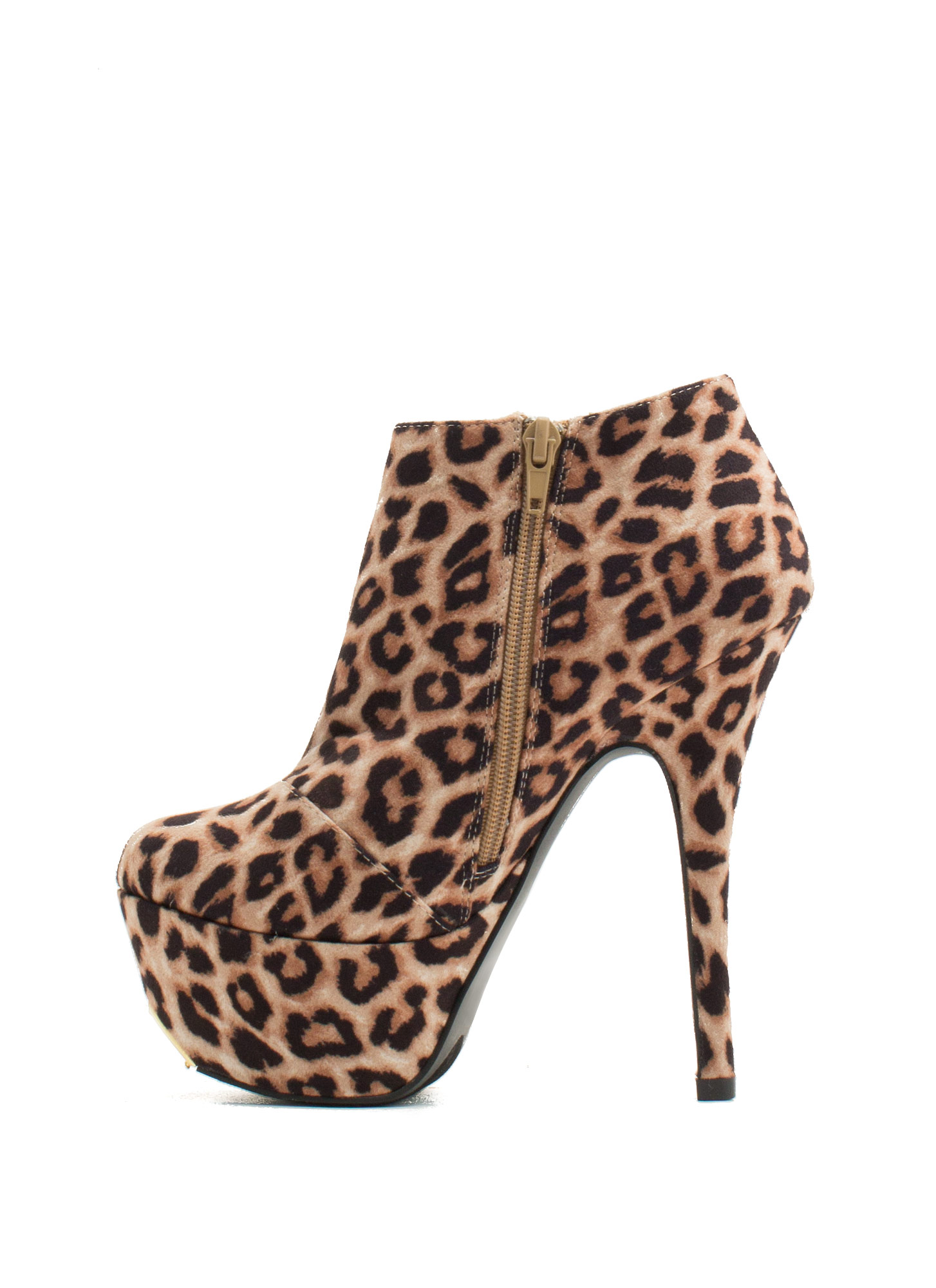 Battle Of Slits Platform Heels CAMEL