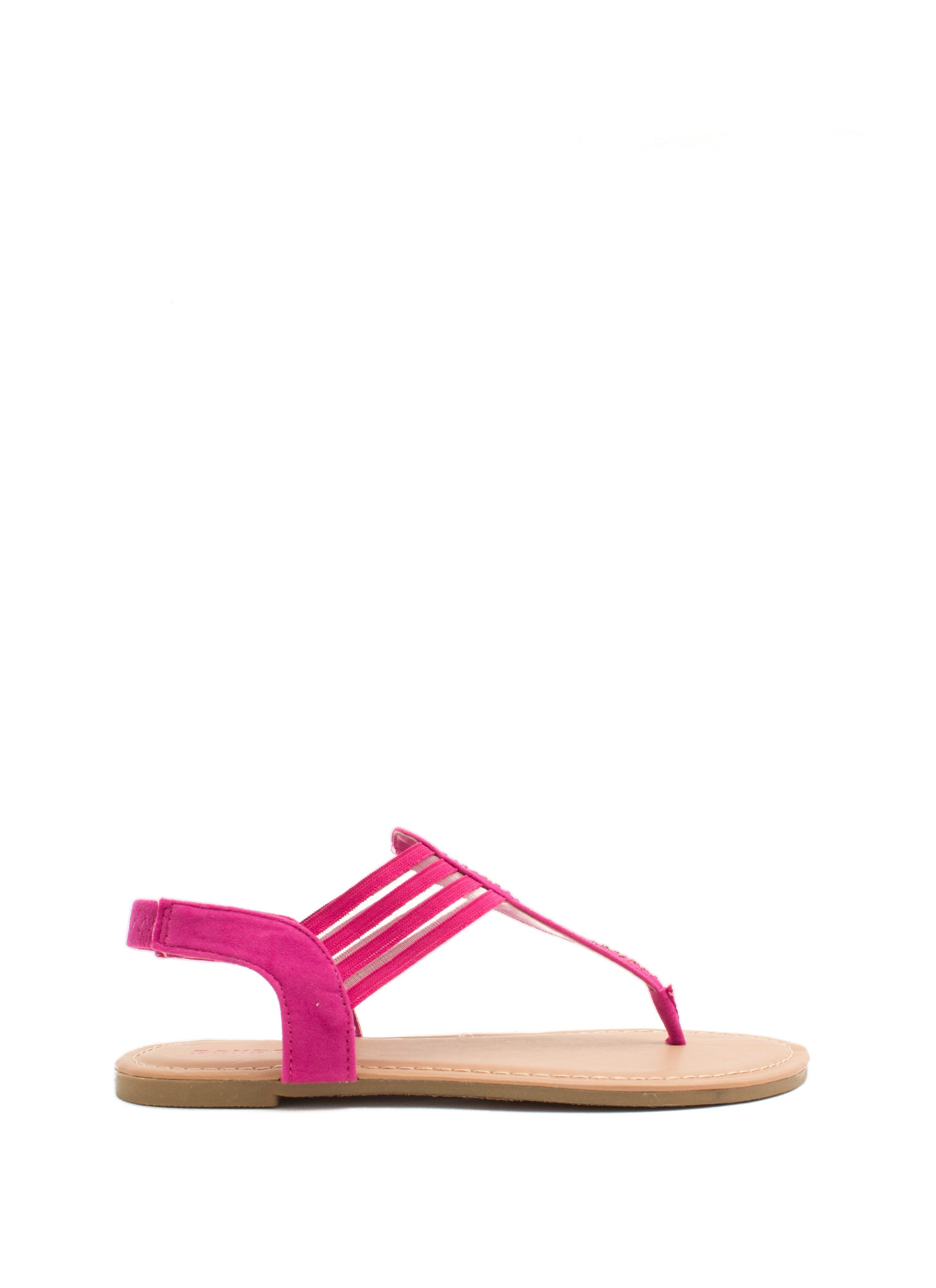 Mesh 'N Shine Thong Sandals FUCHSIA