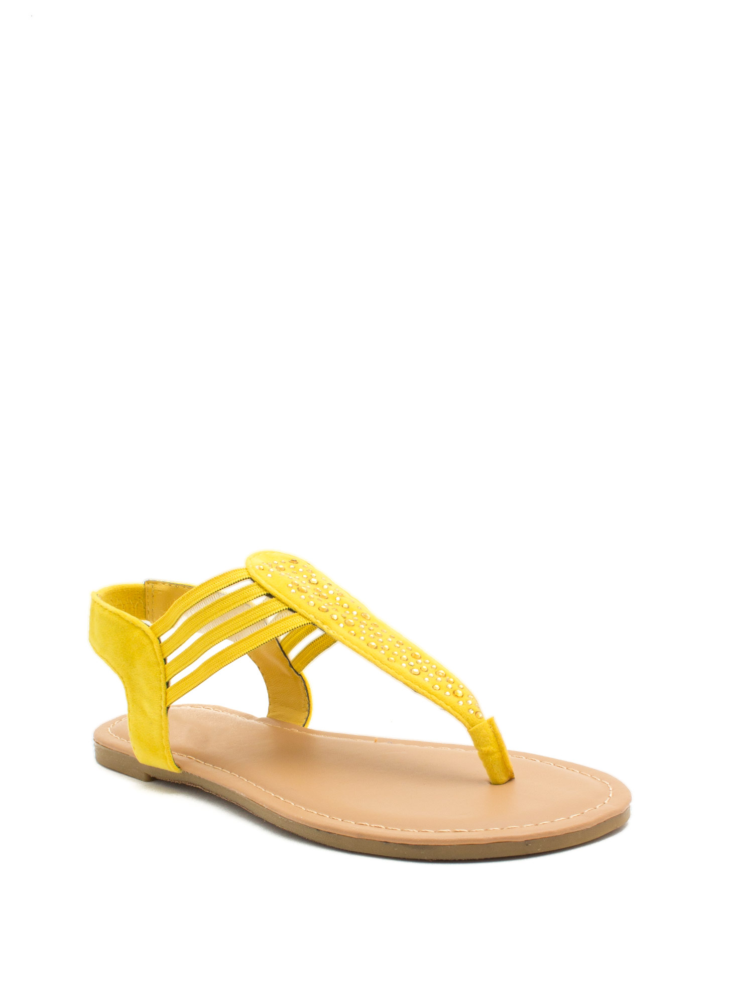 Mesh 'N Shine Thong Sandals YELLOW