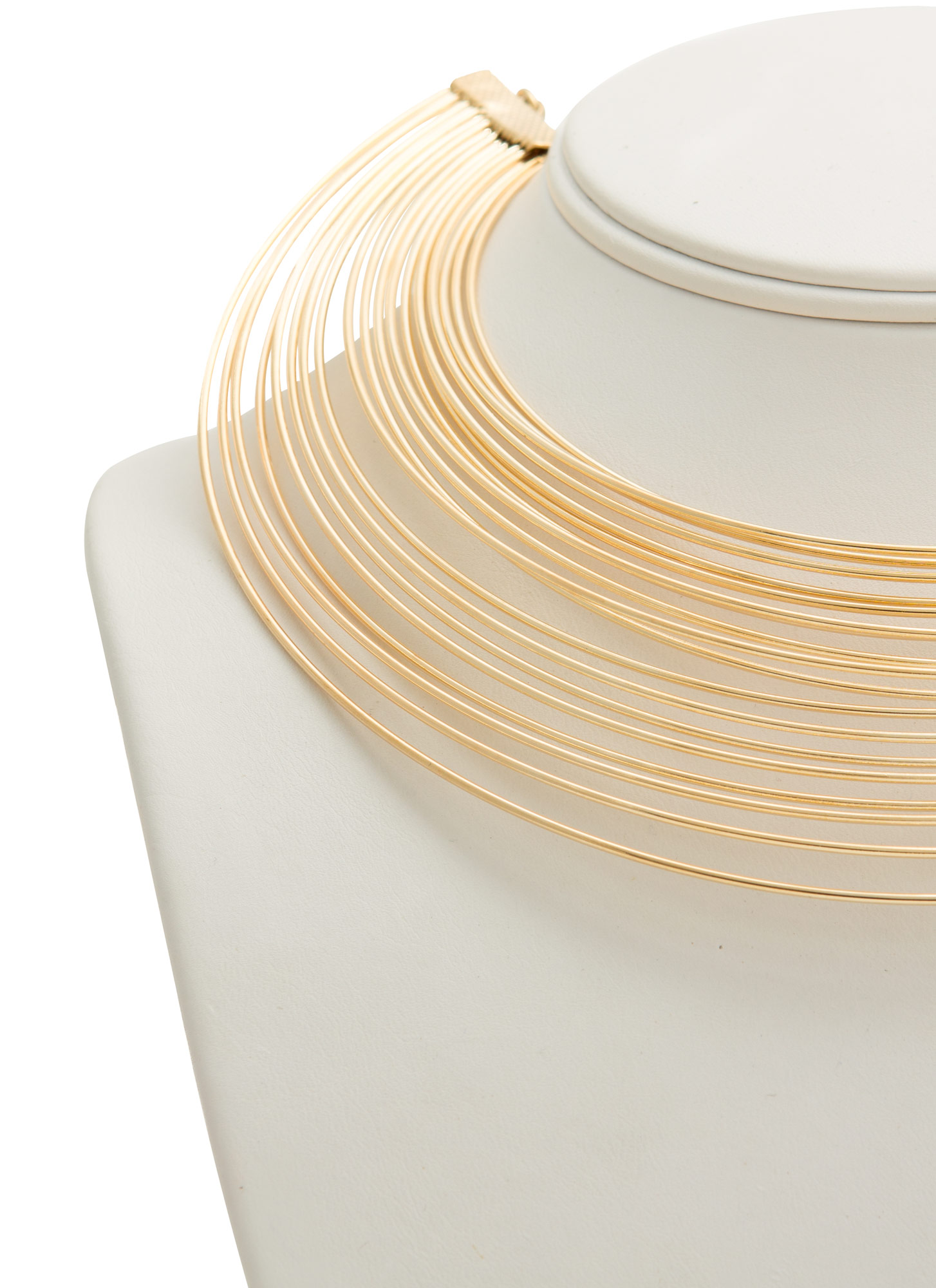 Layered Metal Choker Set GOLD