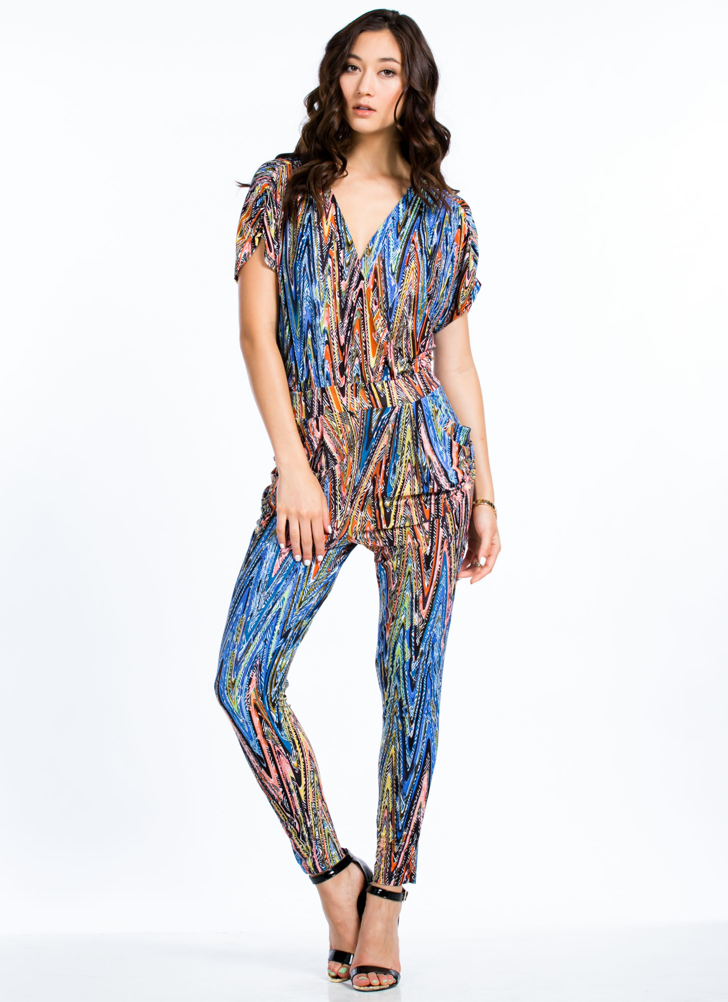 Tribe And True Harem Pant Jumpsuit BLUE
