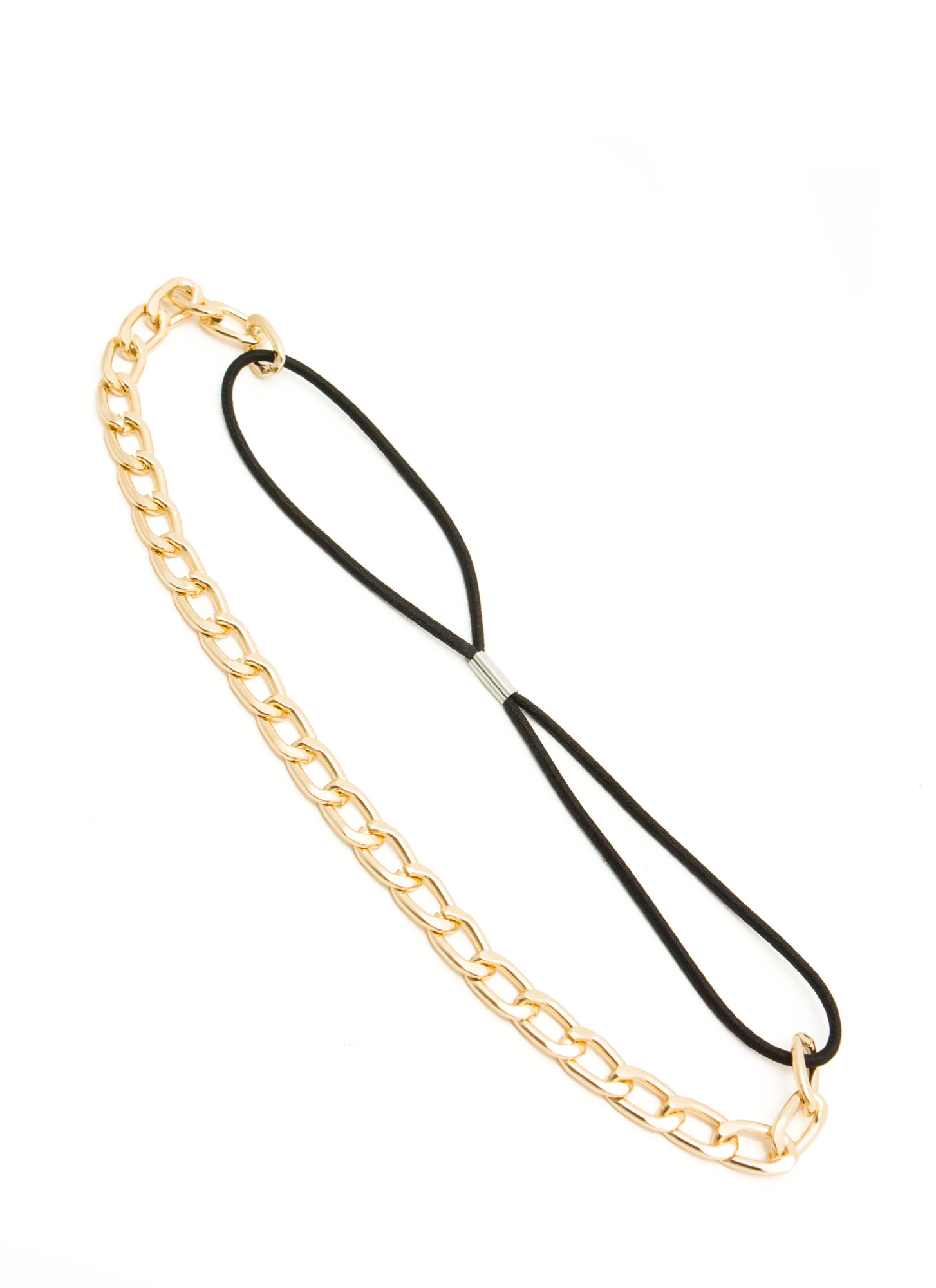 Curb Link Chain Headband GOLD