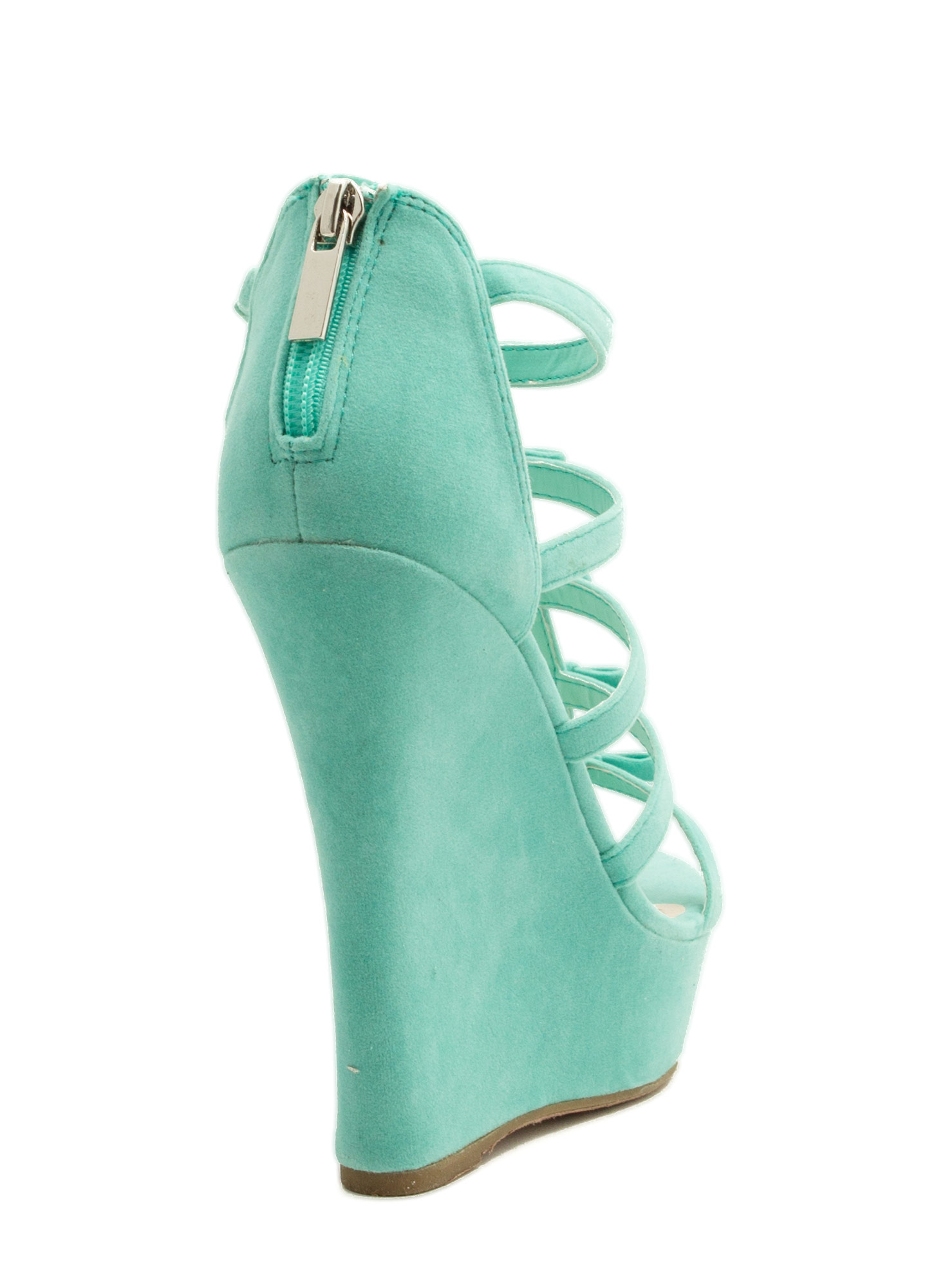 Laddered Bows Platform Wedges MINT