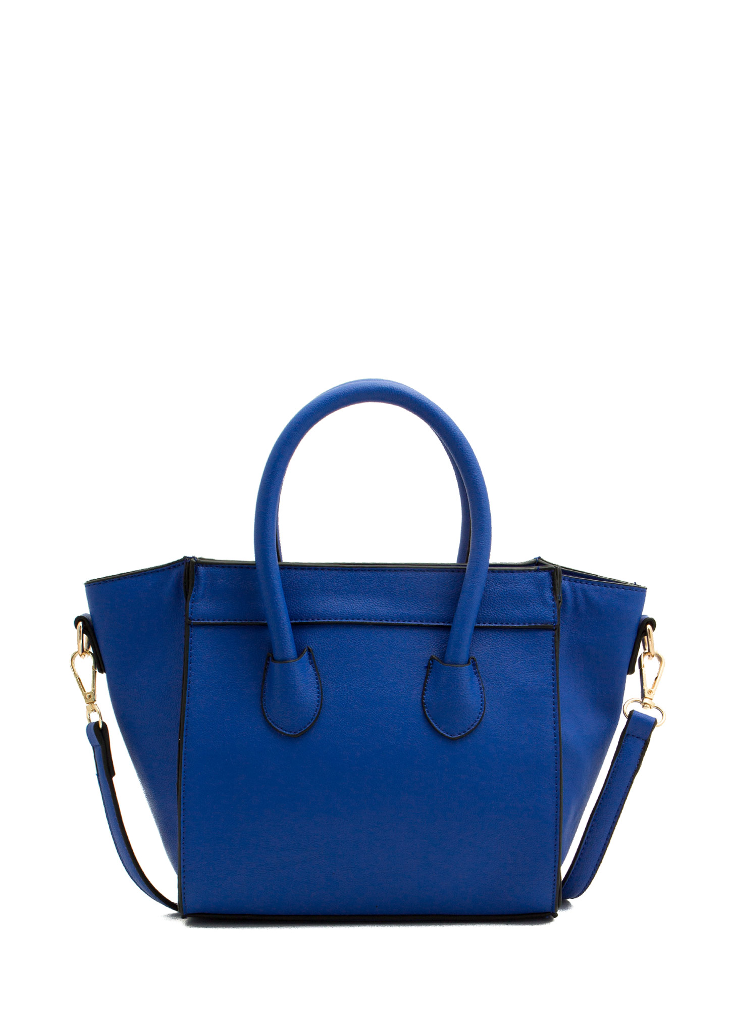 Faux Leather Flared Mini Bag ROYAL