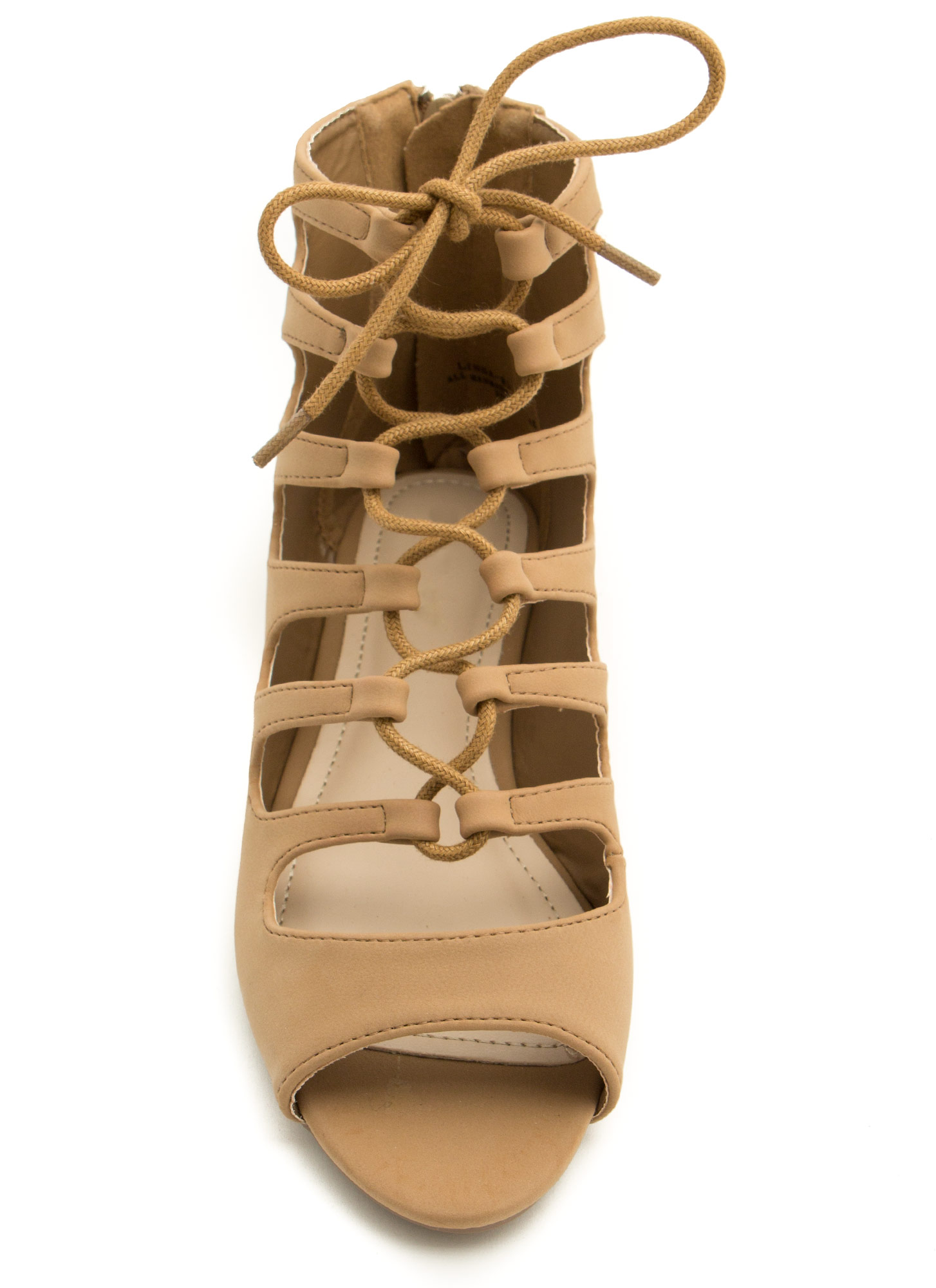 Ankle Biters Laced Cut-Out Sandals NATURAL