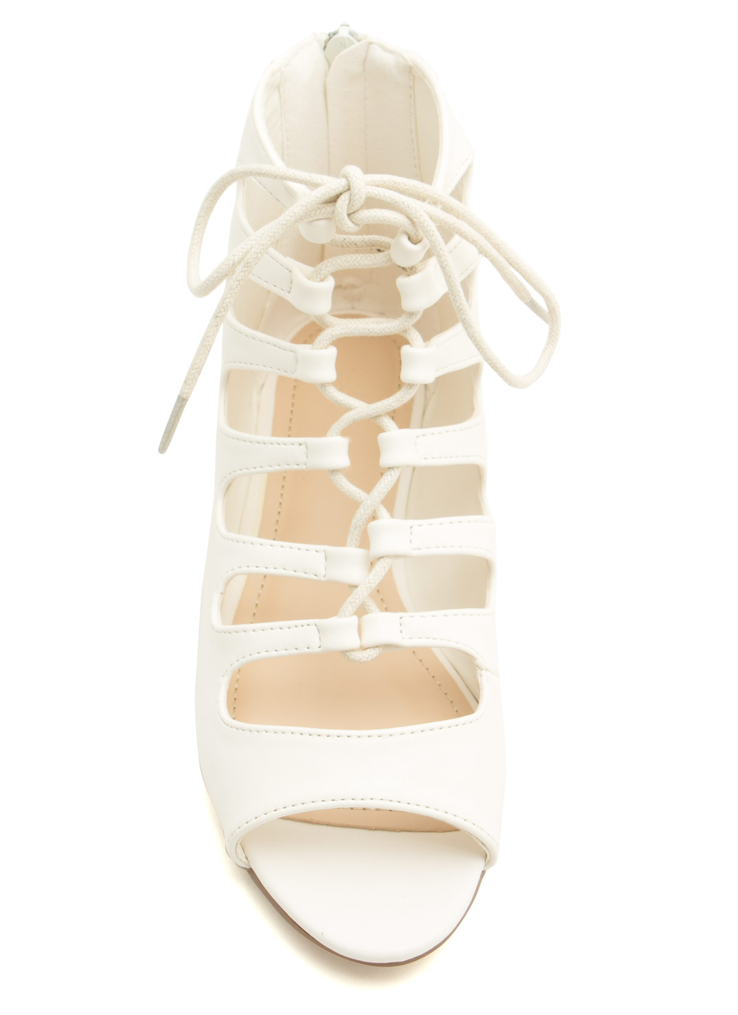 Ankle Biters Laced Cut-Out Sandals WHITE