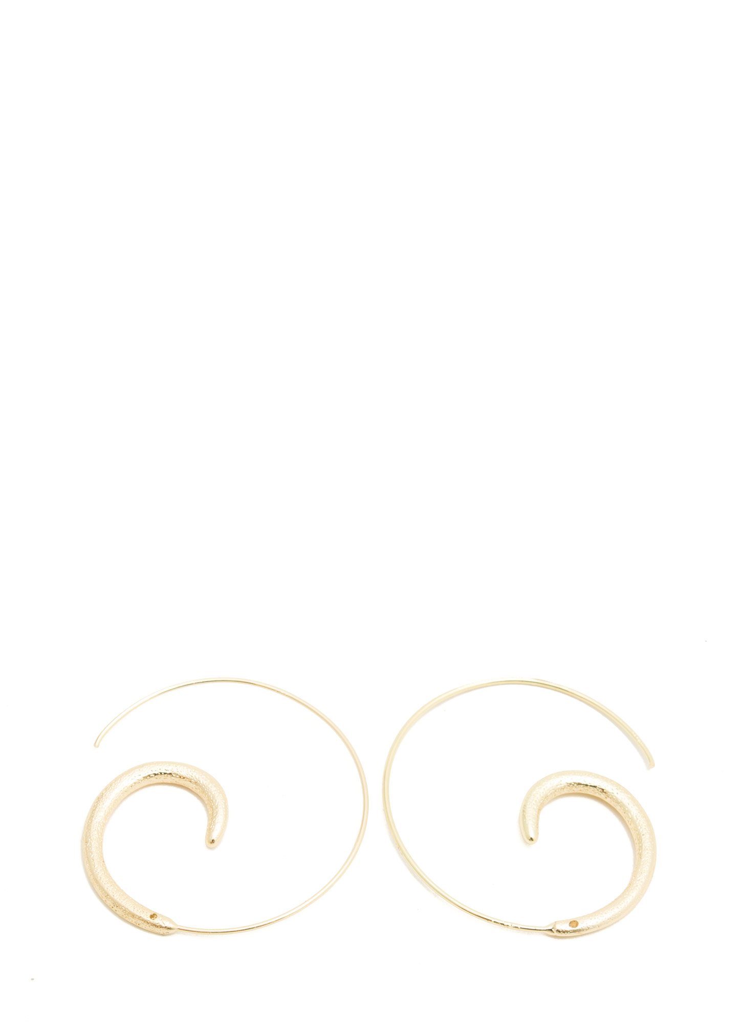 Coiled Snail Hoop Earrings GOLD