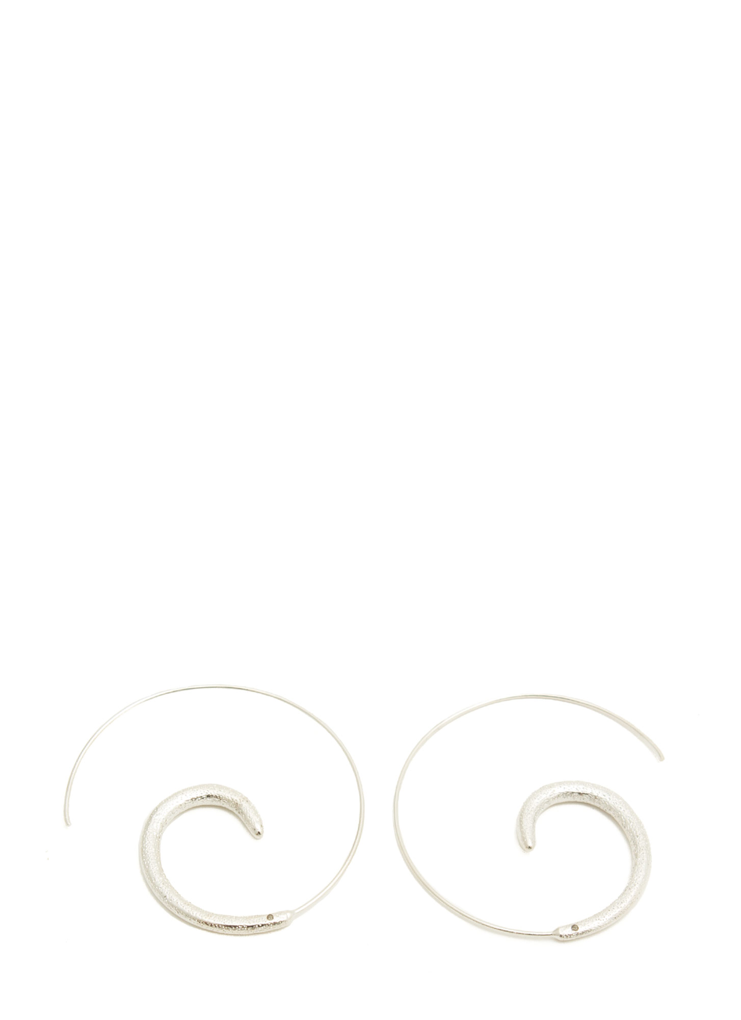 Coiled Snail Hoop Earrings SILVER