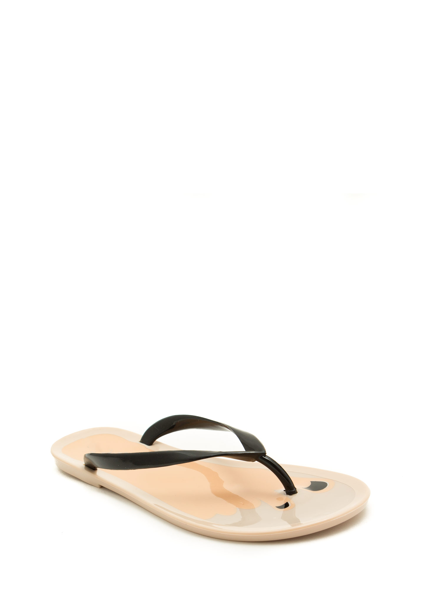 Jump In With Both Feet Thong Sandals BLACK