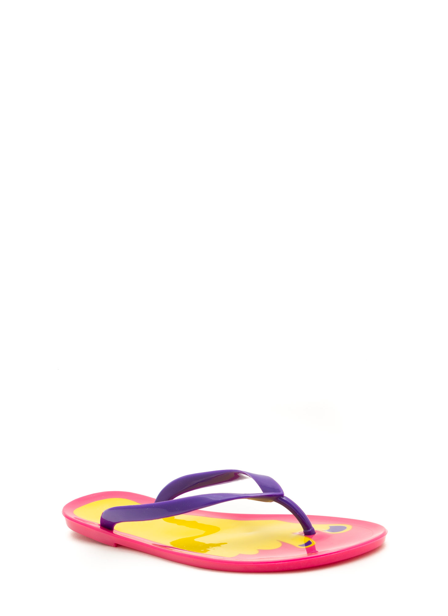 Jump In With Both Feet Thong Sandals PURPLE