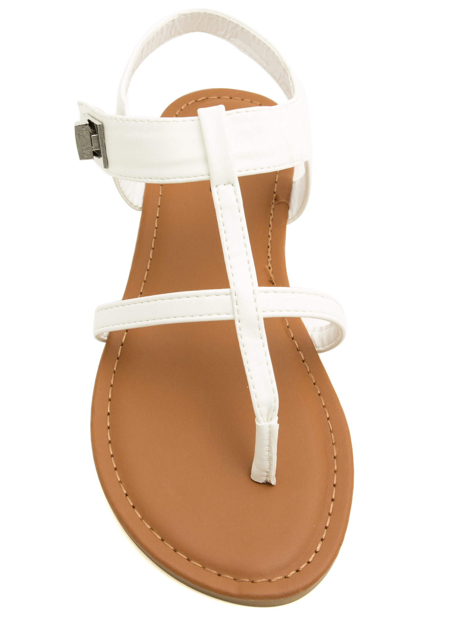 Locked Away Ankle Strap Sandals WHITE