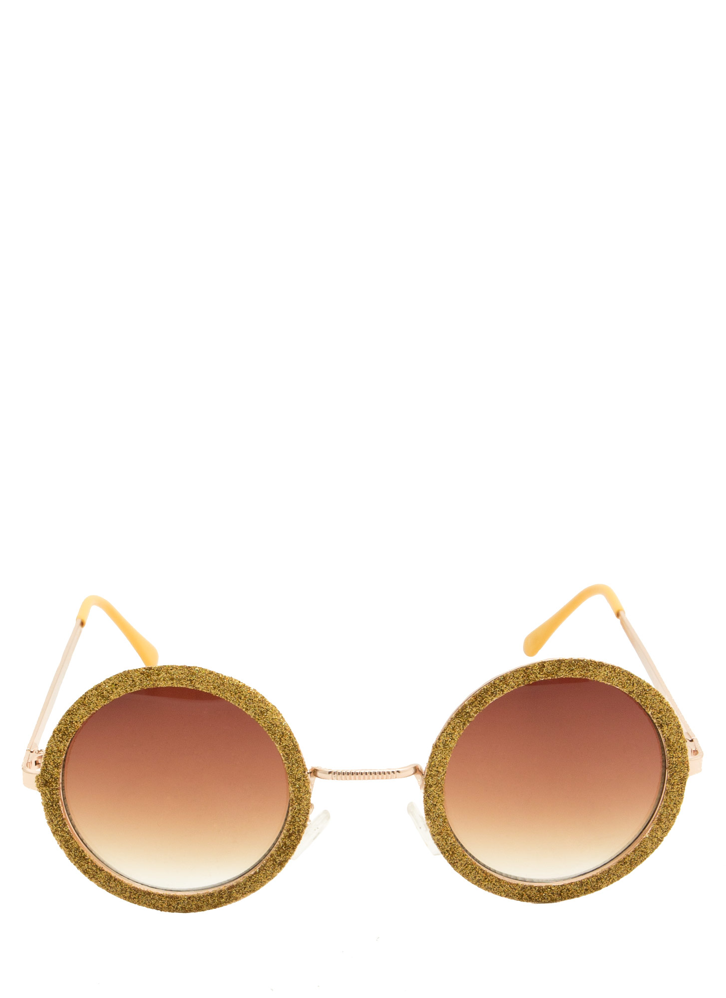 Glitzy Round Sunglasses GOLD