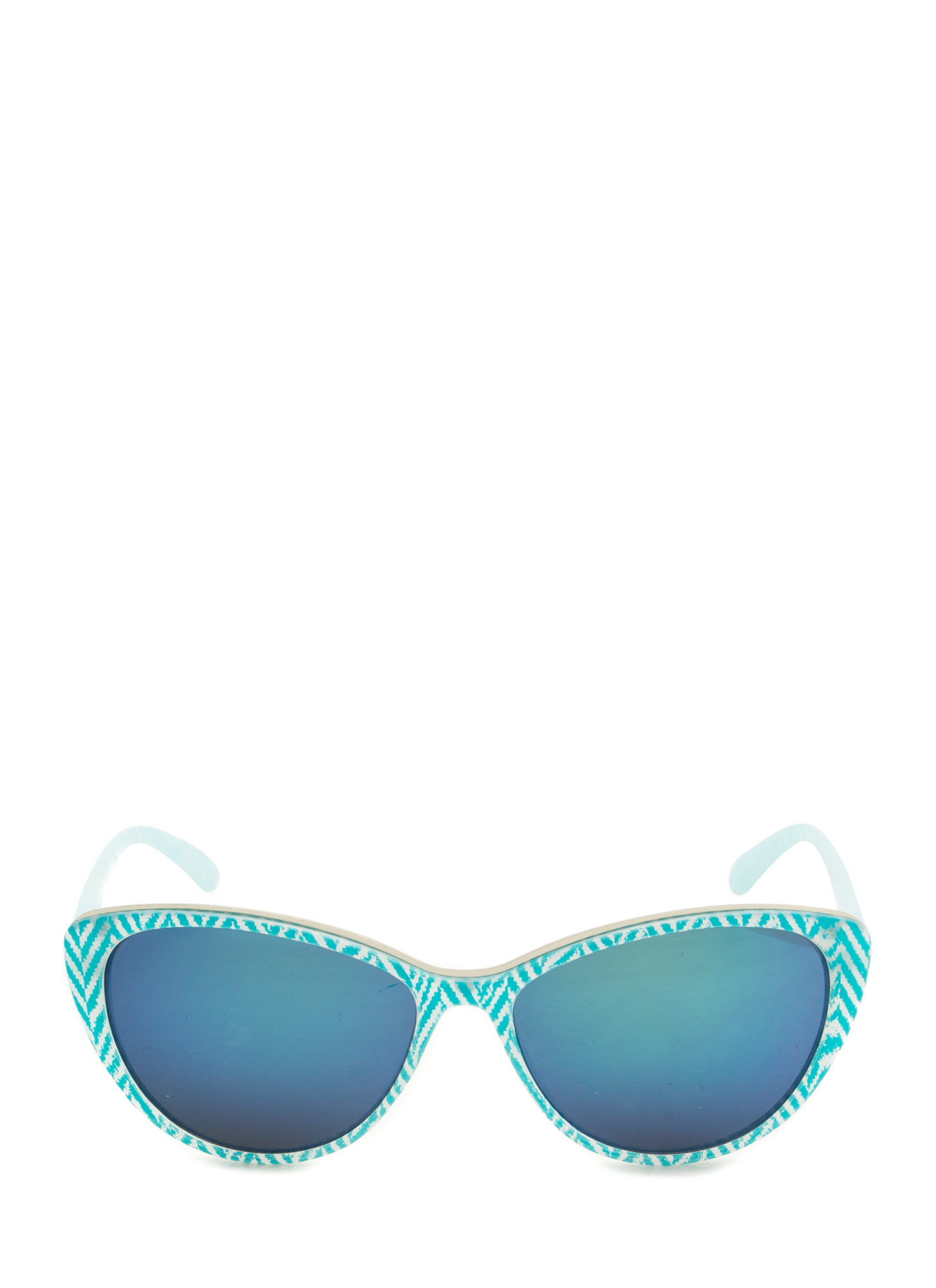 Pattern Play Reflective Sunglasses BLUE