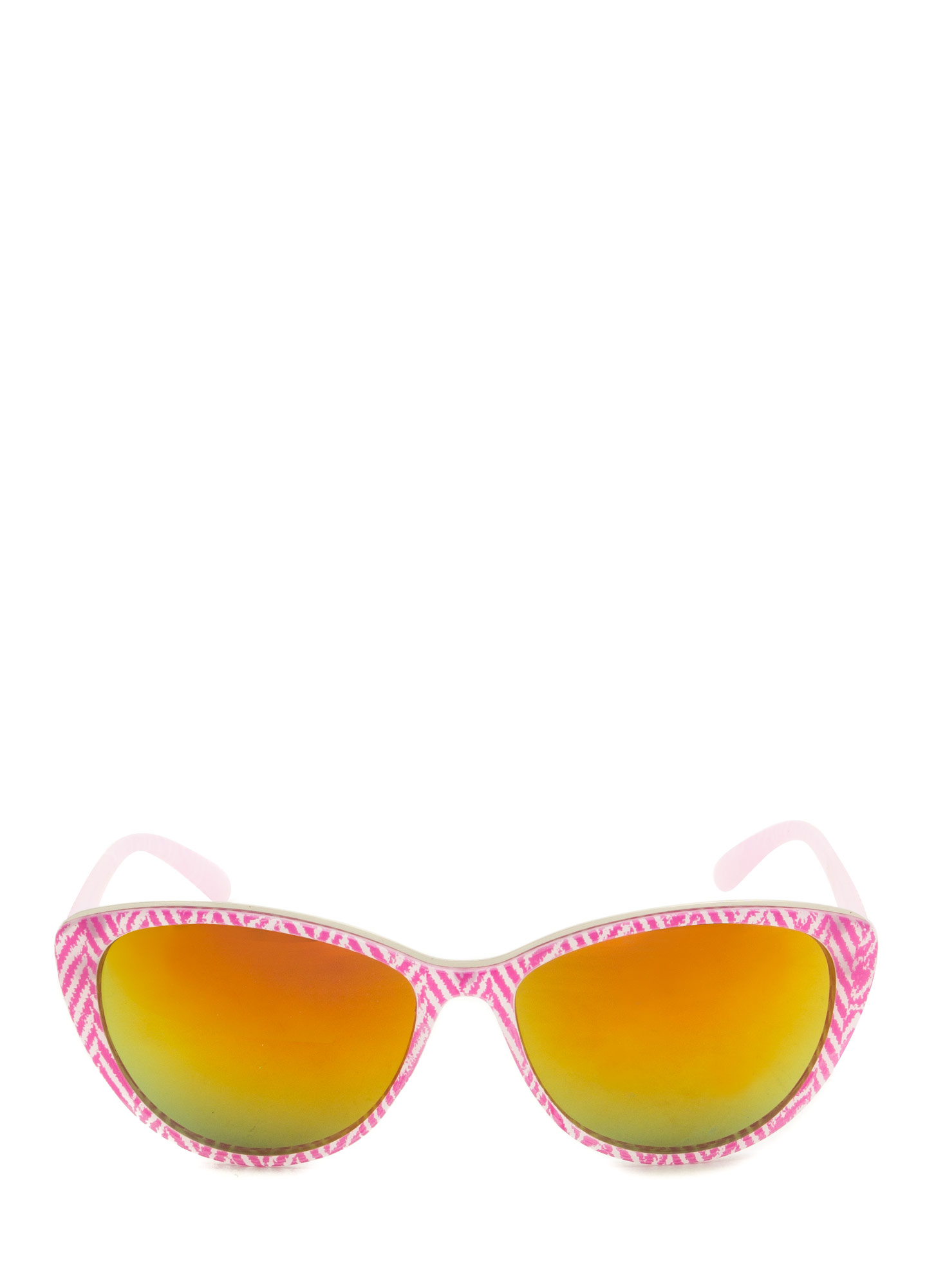 Pattern Play Reflective Sunglasses PINK