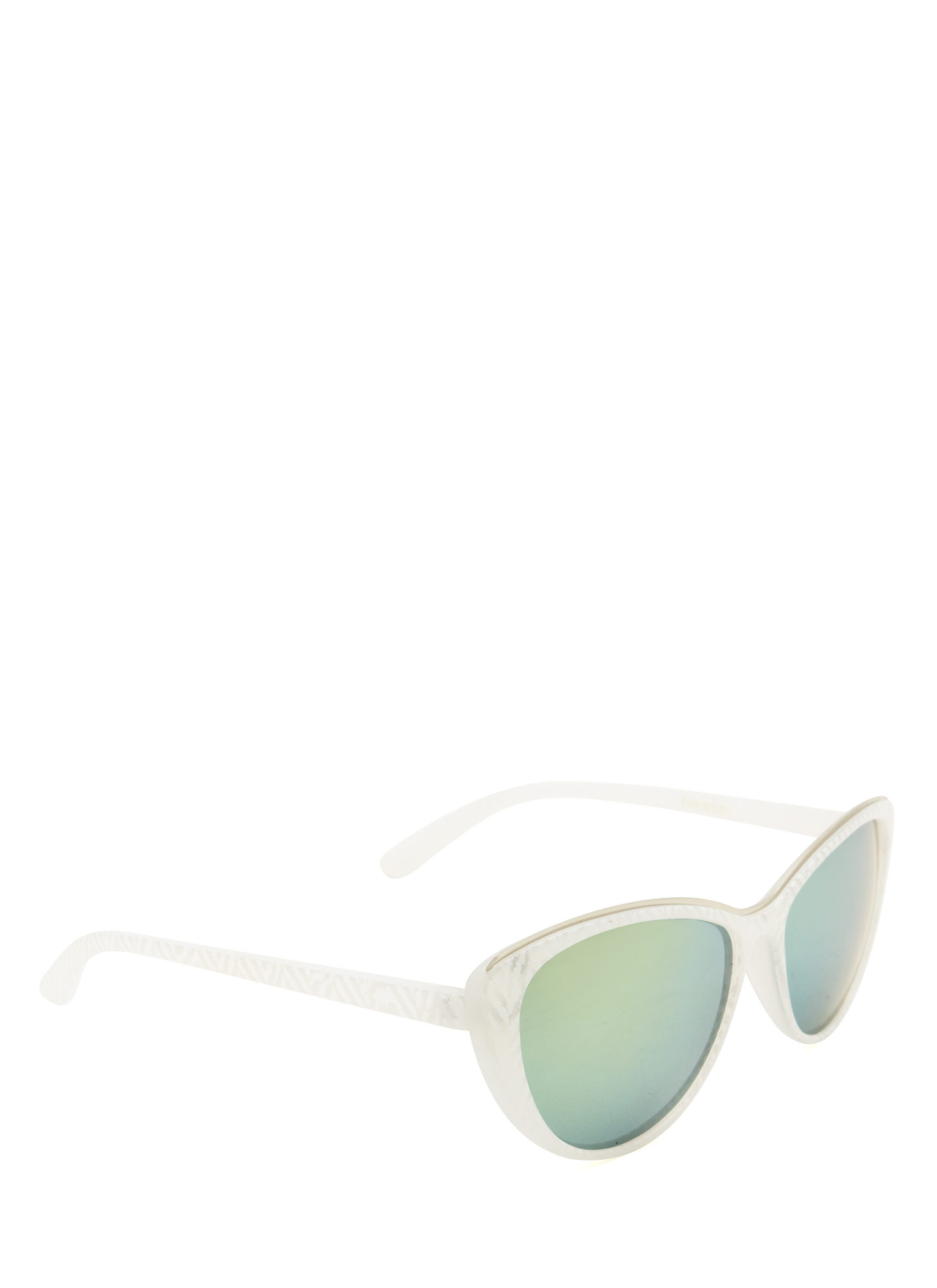 Pattern Play Reflective Sunglasses WHITE