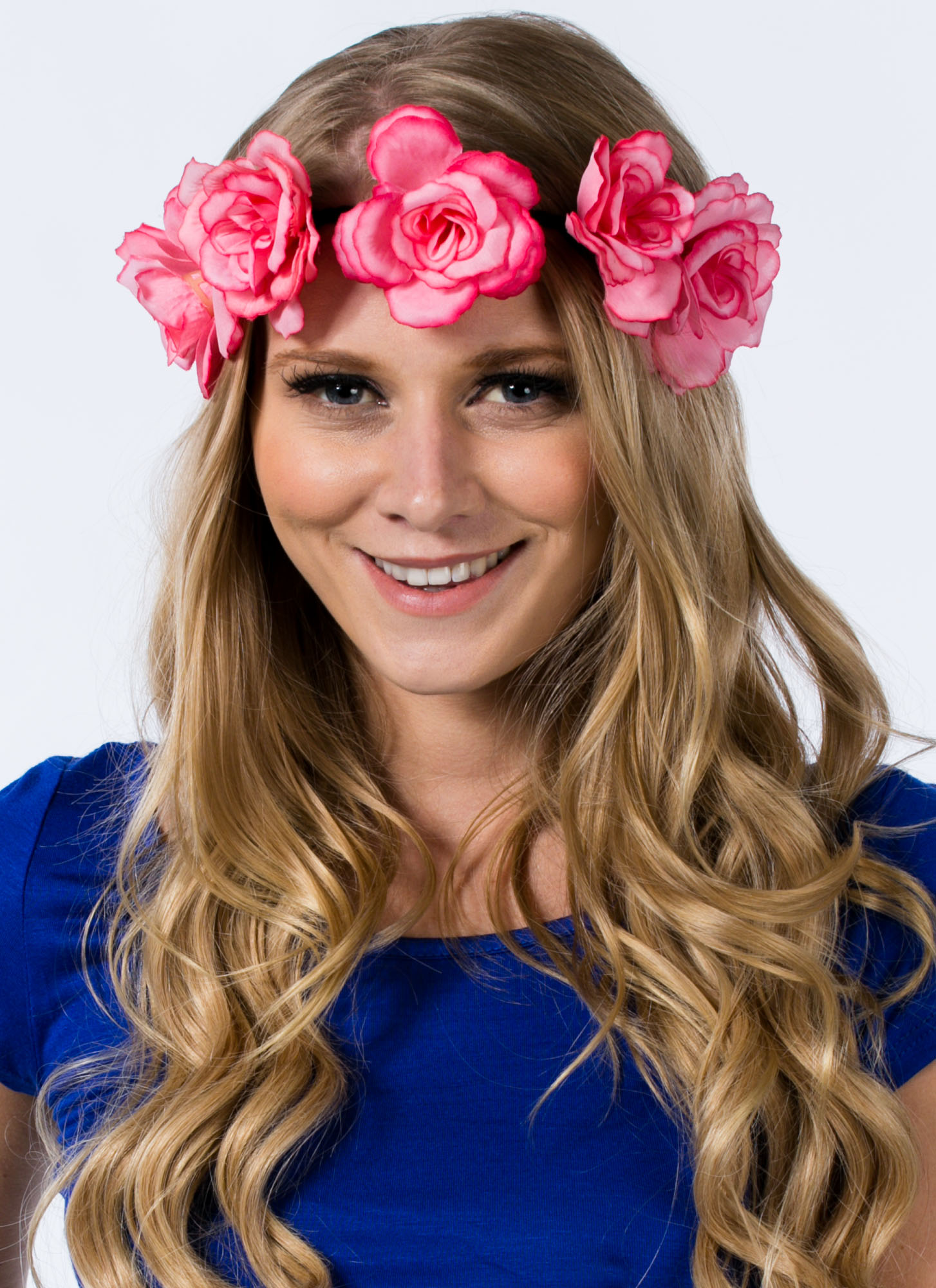 Roses In Bloom Braided Headband PINK