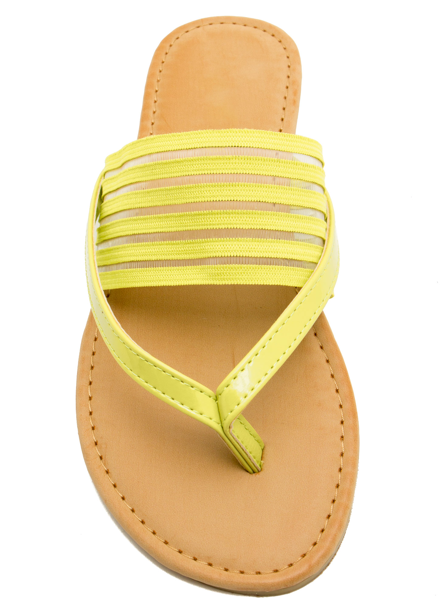 Show Ur Stripes Thong Sandals LIME