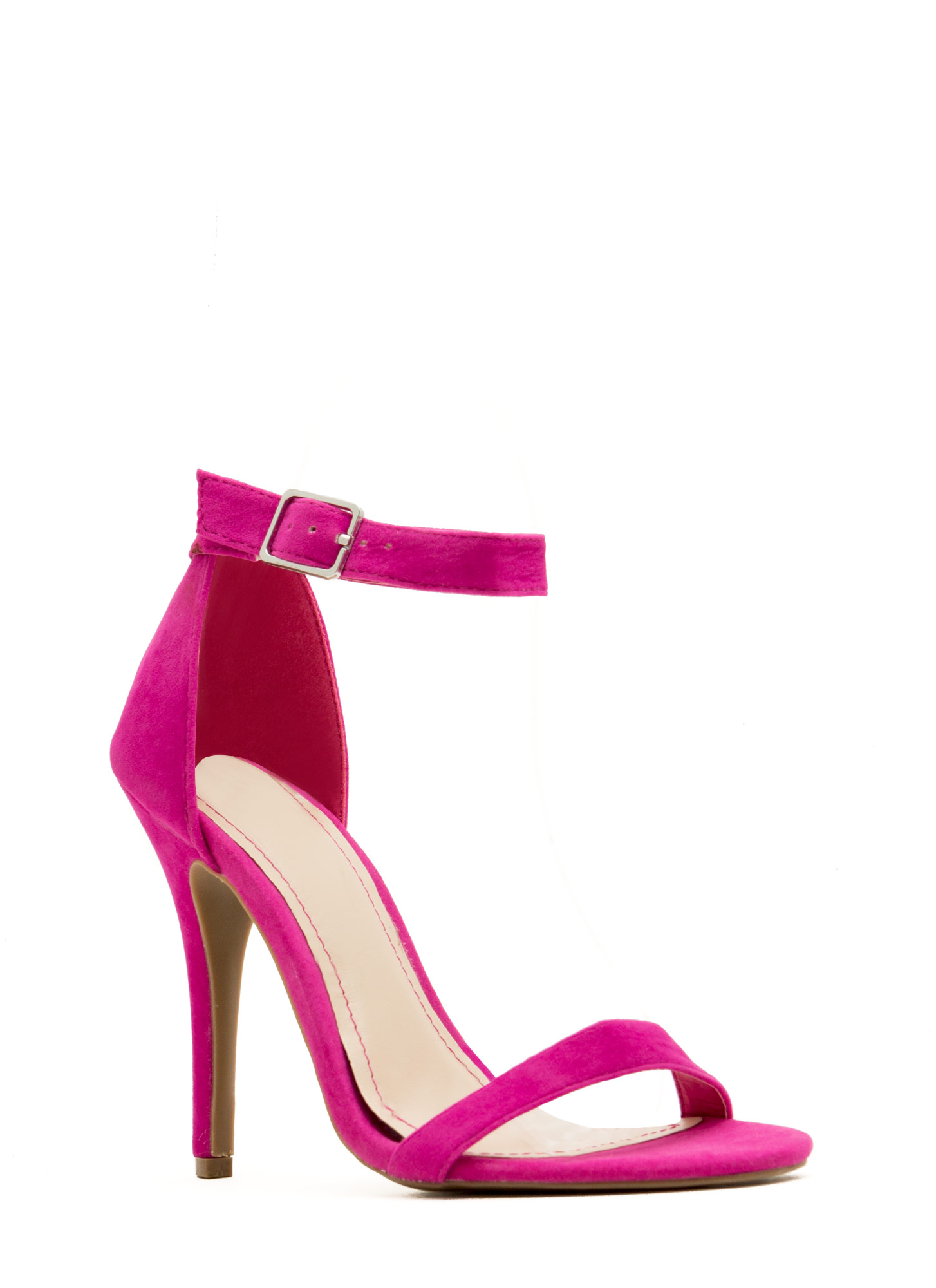 Strap-A-Thon Faux Leather Heels MAGENTA