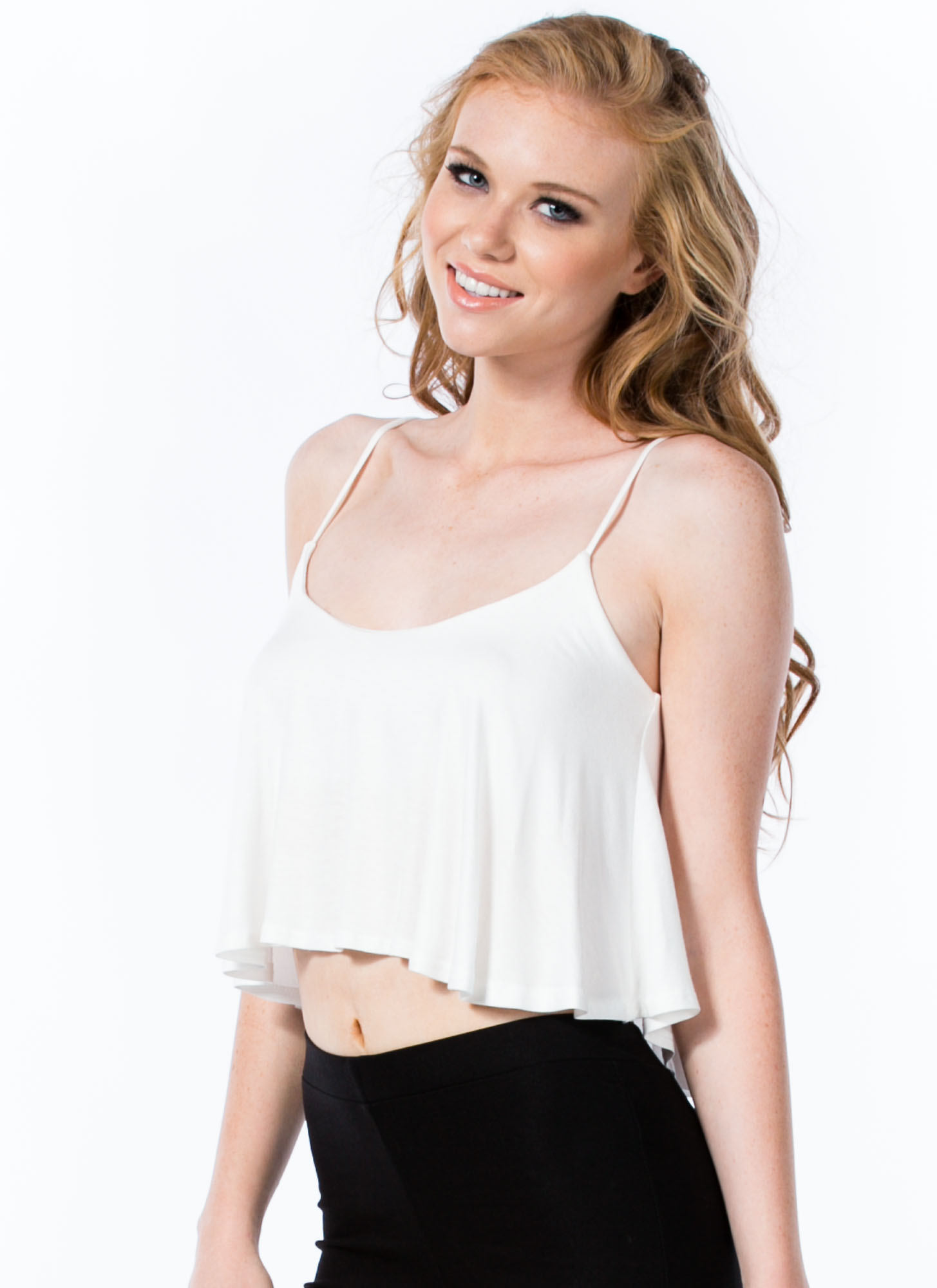 Easy Breezy Carefree Cami Swing Tank IVORY