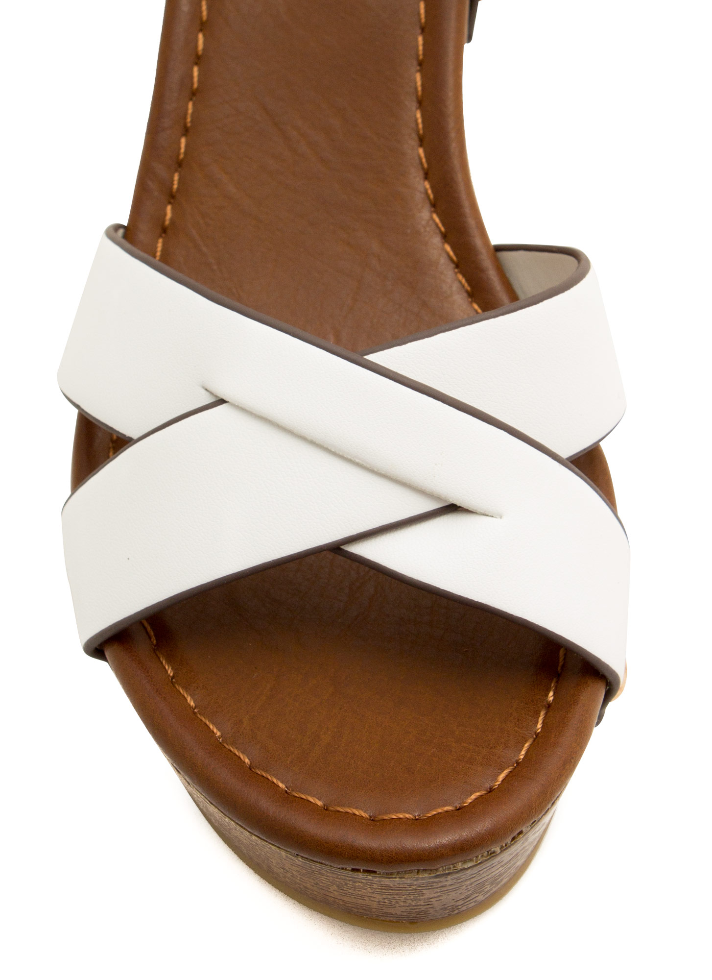 Cross The Line Platform Wedges OFFWHITE