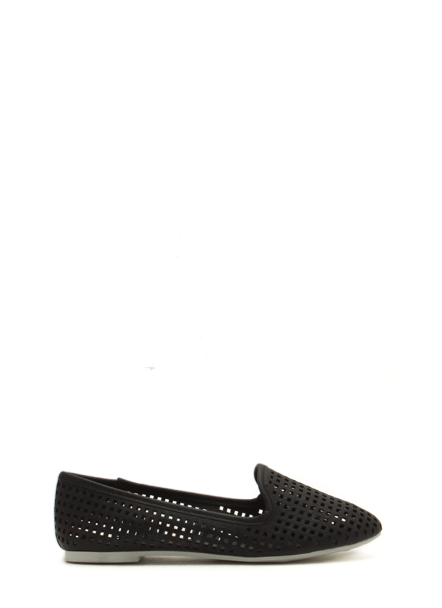 Per-forated Ten Smoking Flats BLACK