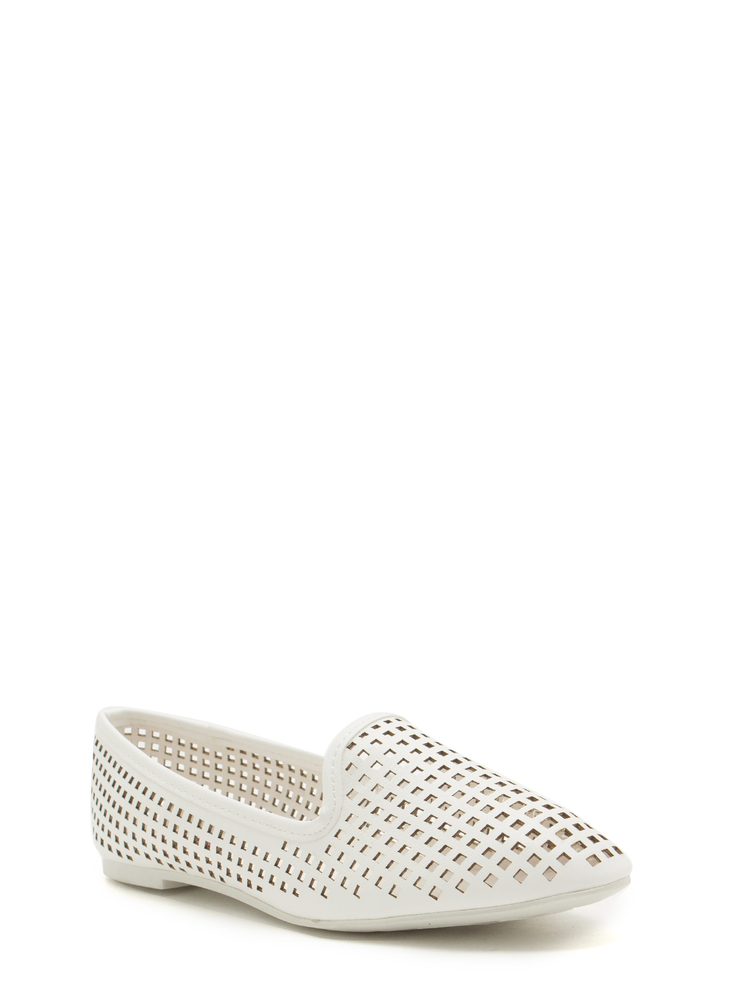 Per-forated Ten Smoking Flats WHITE