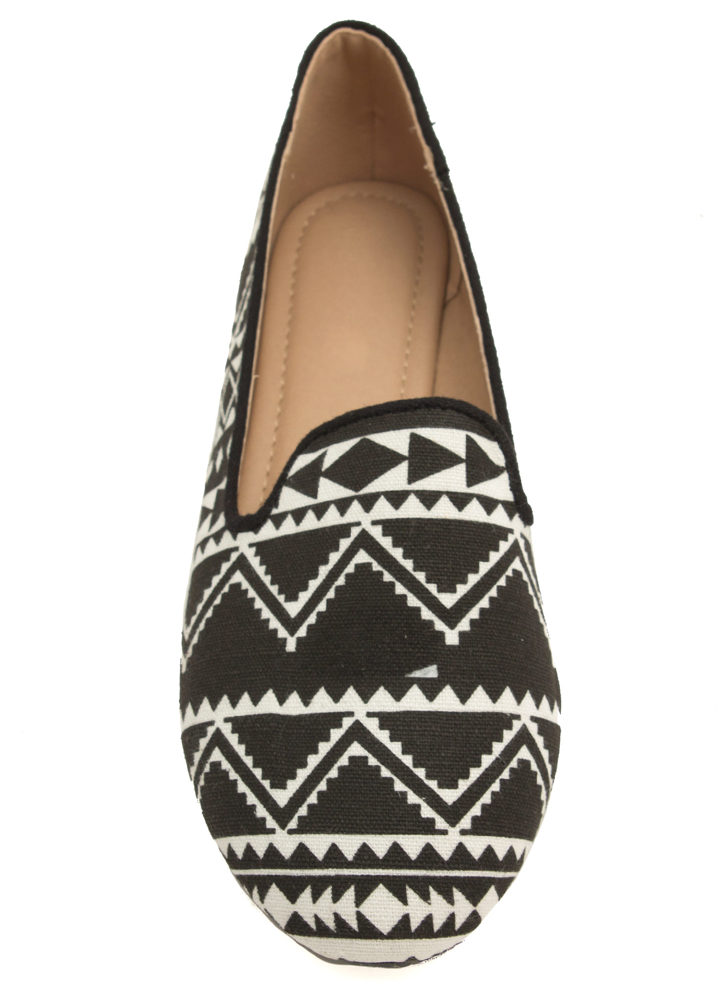 Astounding In Aztec Smoking Flats BLACK